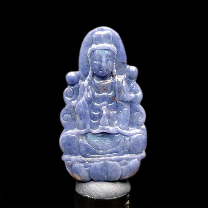 Mặt Quan Thế Âm Bồ Tát Sapphire Xanh Hero #MSP-1025-01 1