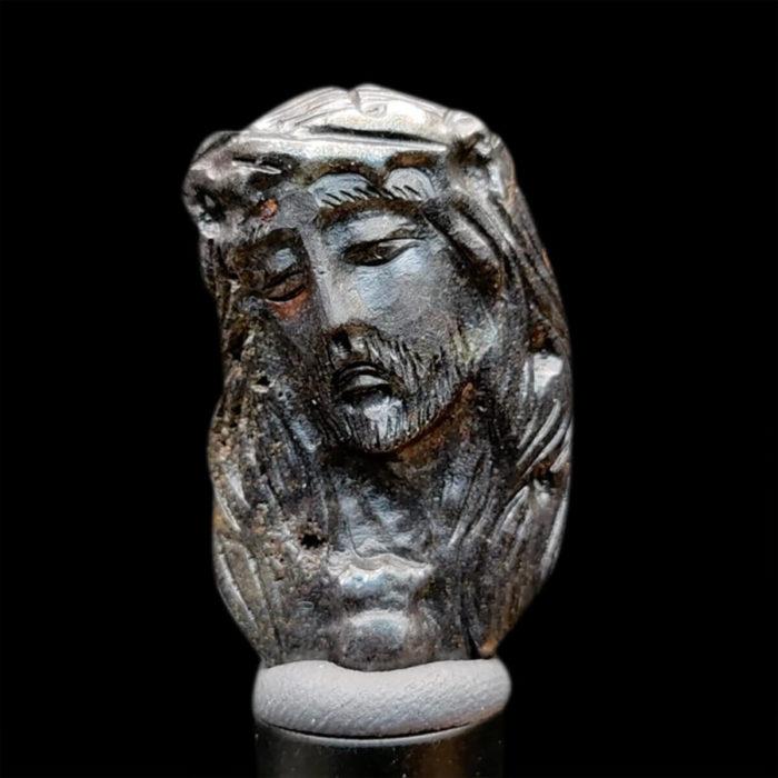 Mặt Chúa Giê Su Sapphire Đen #MSP-1025-04 1