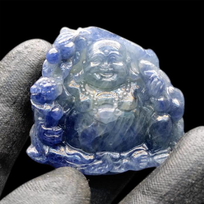 Mặt Phật Di Lặc Sapphire Xanh Hero Lục Yên #MSP-1025-05 1