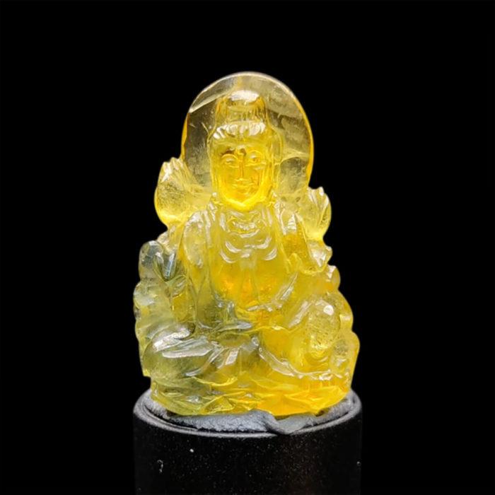 Mặt Quan Thế Âm Bồ Tát Sapphire Vàng Xanh #MSP-1025-12 1
