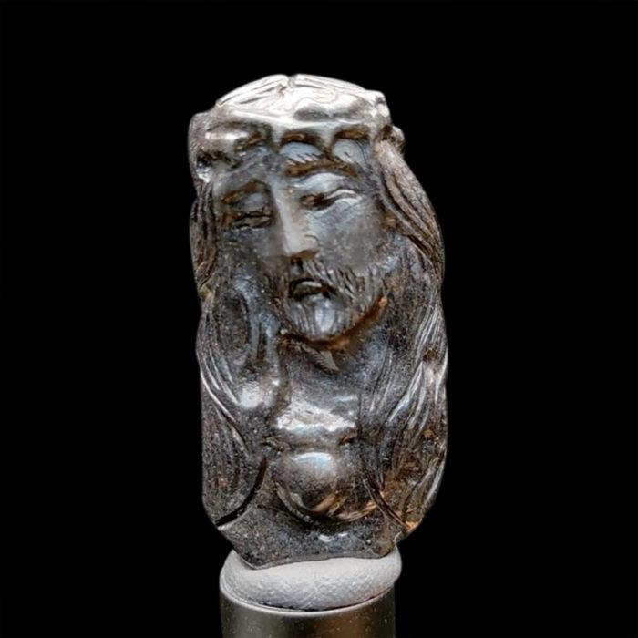 Mặt Chúa Giê Su Sapphire Đen #MSP-1025-13 1
