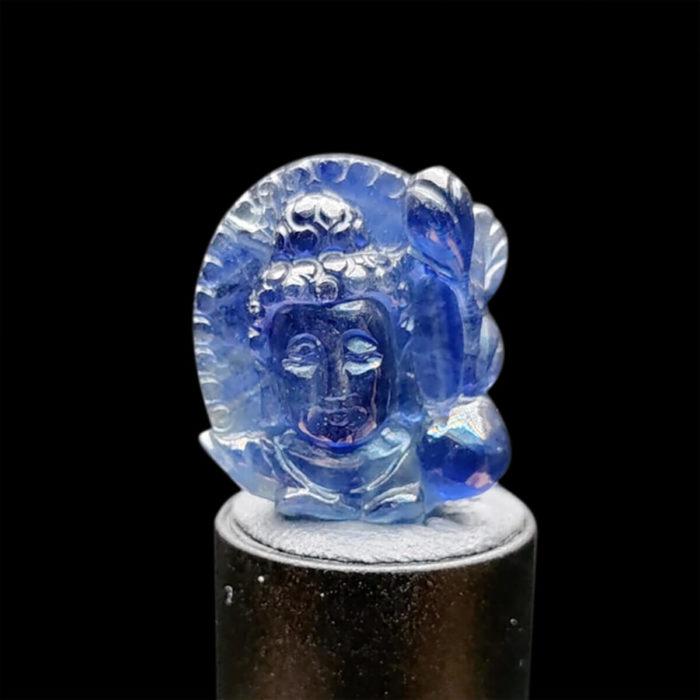 Mặt Phật A Di Đà Sapphire Xanh Hero #MSP-1025-25 1