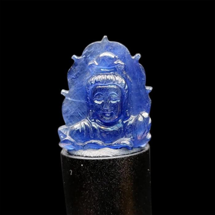 Mặt Phật A Di Đà Sapphire Xanh Hero #MSP-1025-26 1