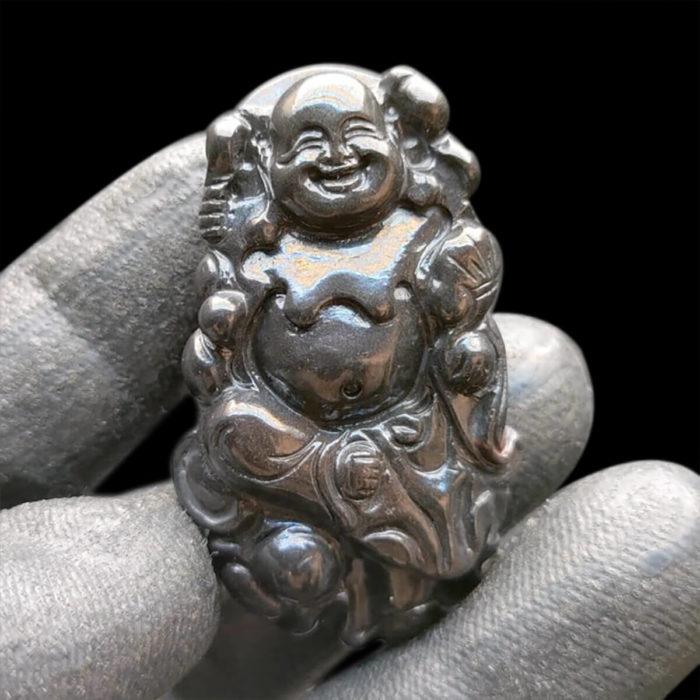 Mặt Phật Di Lặc Sapphire Đen #MSP-1111-02 1