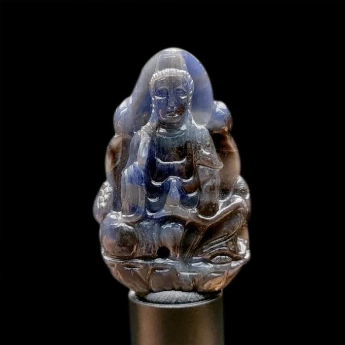 Mặt Quan Thế Âm Bồ Tát Sapphire Xanh Xám #MSP-1111-07 1