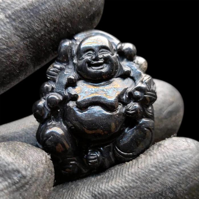 Mặt Phật Di Lặc Sapphire Đen #MSP-1111-08 1