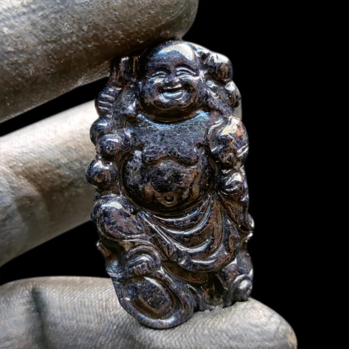 Mặt Phật Di Lặc Sapphire Đen #MSP-1111-10 1