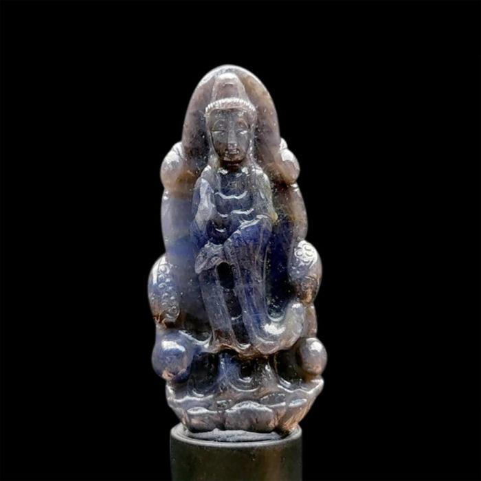 Mặt Quan Thế Âm Bồ Tát Sapphire Xanh Xám #MSP-1111-13 1