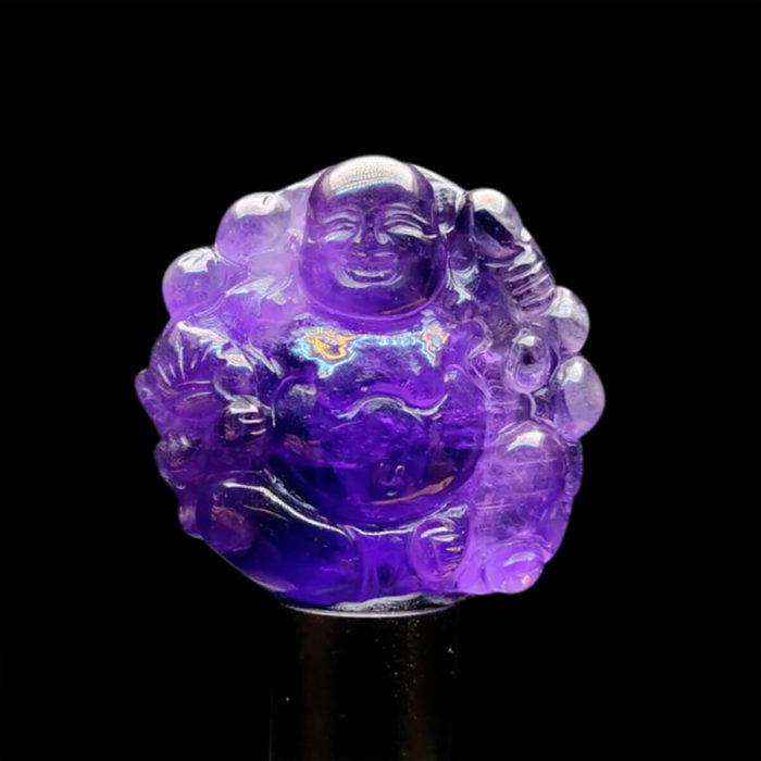 Mặt Phật Di Lặc Thạch Anh Tím – Amethyst #MTAT-1115-12 1
