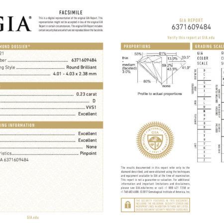 Kim Cương 4.01 Ly - Nước Màu D - Độ Tinh Khiết VVS1 - Cấp Độ Cắt Mài Excellent 3