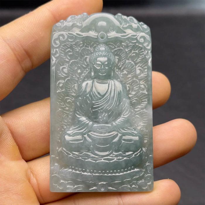 Mặt Phật Tổ Ngọc Cẩm Thạch Cao Băng - Chuẩn A #MCTA-210206-07 1