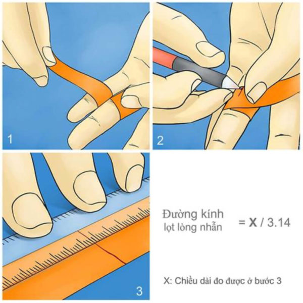 Cách đo Ni Nhẫn - How to find your Ring Size 11