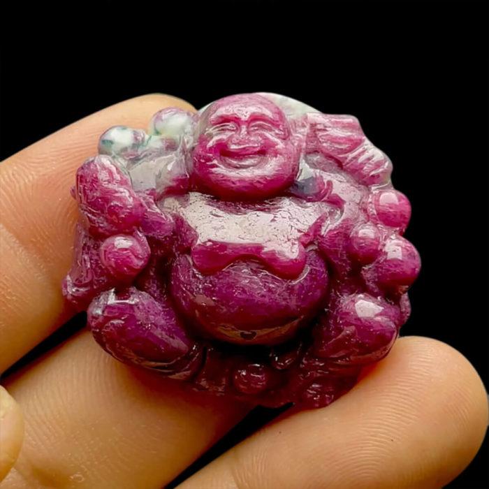 Mặt Phật Di Lặc Ruby Phi Tự Nhiên #MRB-210617-01 1