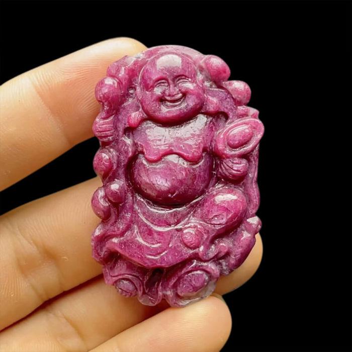 Mặt Phật Di Lặc Ruby Phi Tự Nhiên #MRB-210617-02 1