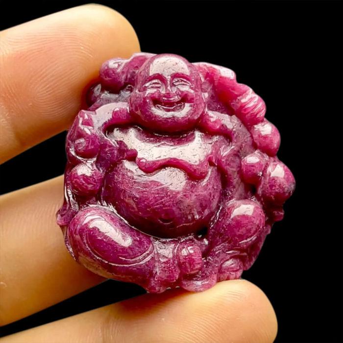 Mặt Phật Di Lặc Ruby Phi Tự Nhiên #MRB-210617-03 1
