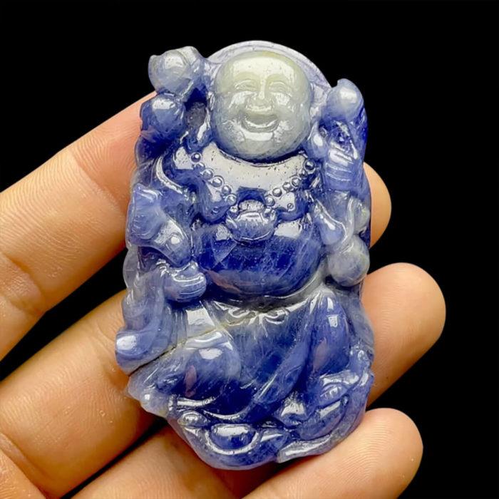 Mặt Phật Di Lặc Sapphire Xanh Hero - Tự Nhiên #MSP-210617-02 1