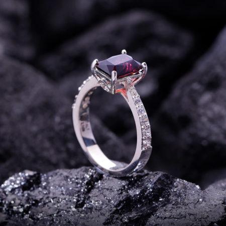 Nhẫn Nữ - Bạc - Đá Garnet - Ngọc Hồng Lựu - Tự Nhiên #NGN-210605-01 3