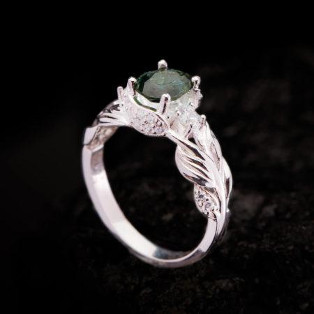 Nhẫn Nữ - Bạc - Đá Peridot Tự Nhiên #NPE-210630-01 5