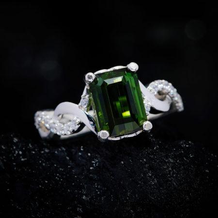 Nhẫn Nữ - Bạc - Đá Peridot Tự Nhiên #NPE-210630-03 3