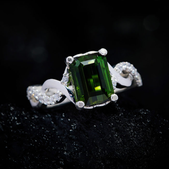 Nhẫn Nữ - Bạc - Đá Peridot Tự Nhiên #NPE-210630-03 2
