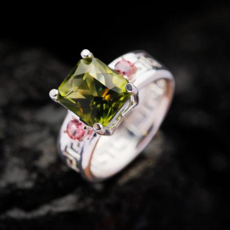 Nhẫn Nữ - Bạc - Đá Peridot Tự Nhiên #NPE-210630-04 3