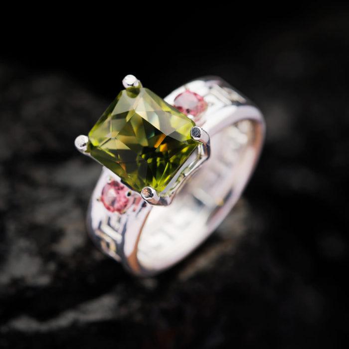 Nhẫn Nữ - Bạc - Đá Peridot Tự Nhiên #NPE-210630-04 2