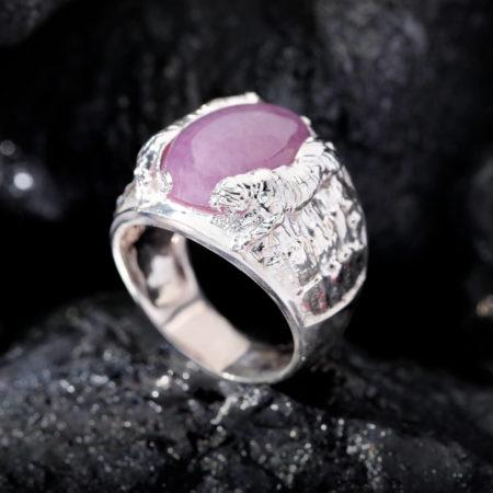 Nhẫn Nam - Bạc - Đá Ruby Tự Nhiên #NRB-210626-01 3