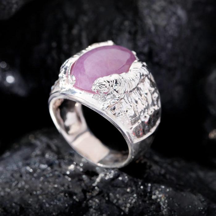 Nhẫn Nam - Bạc - Đá Ruby Tự Nhiên #NRB-210626-01 2