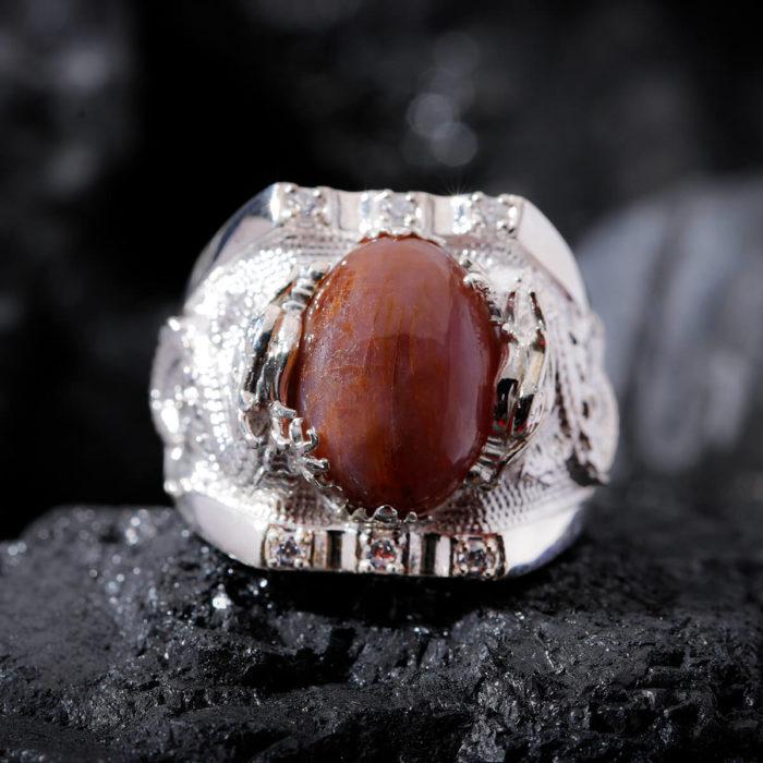Nhẫn Nam - Bạc - Đá Ruby Sao Tự Nhiên #NRB-210626-02 1