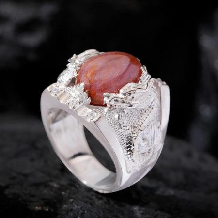 Nhẫn Nam - Bạc - Đá Ruby Sao Tự Nhiên #NRB-210626-02 3