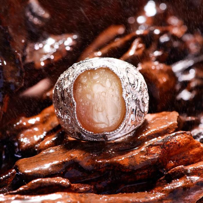 Nhẫn Nam - Bạc - Đá Sapphire Vàng Tự Nhiên #NSP-210605-02 2