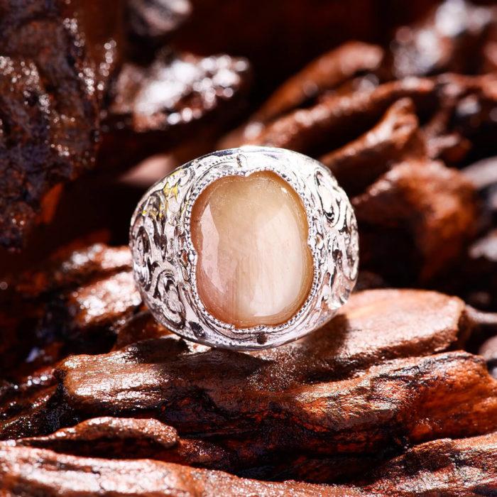 Nhẫn Nam - Bạc - Đá Sapphire Vàng Tự Nhiên #NSP-210605-02 3