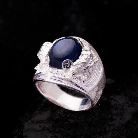 Nhẫn Nam - Bạc - Đá Sapphire Phan Thiết Tự Nhiên #NSP-210626-06 3
