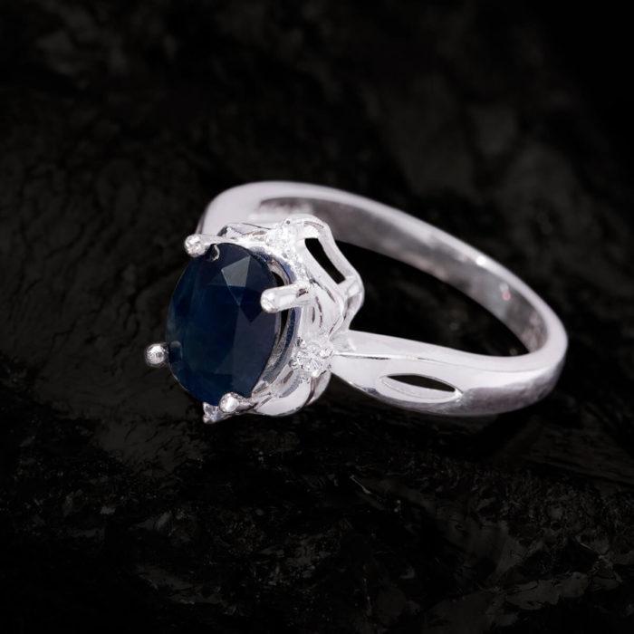 Nhẫn Nữ - Bạc - Đá Sapphire Xanh Tự Nhiên #NSP-210630-01 1