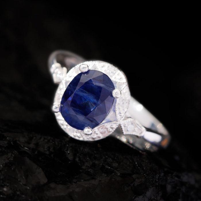Nhẫn Nữ - Bạc - Đá Sapphire Xanh Tự Nhiên #NSP-210630-03 1
