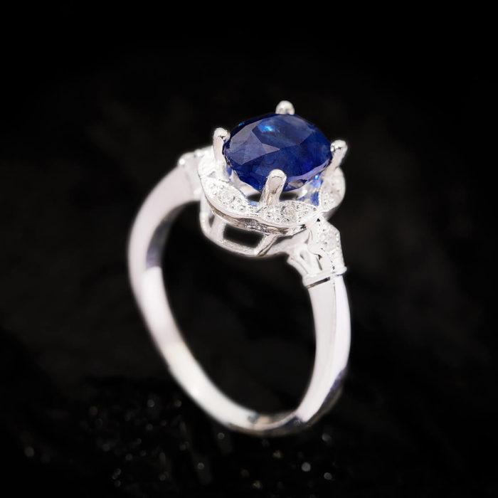 Nhẫn Nữ - Bạc - Đá Sapphire Xanh Tự Nhiên #NSP-210630-03 2