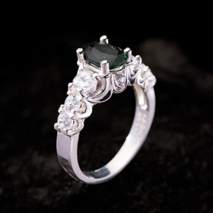 Nhẫn Nữ - Bạc - Đá Sapphire Xanh Tự Nhiên #NSP-210630-04 1