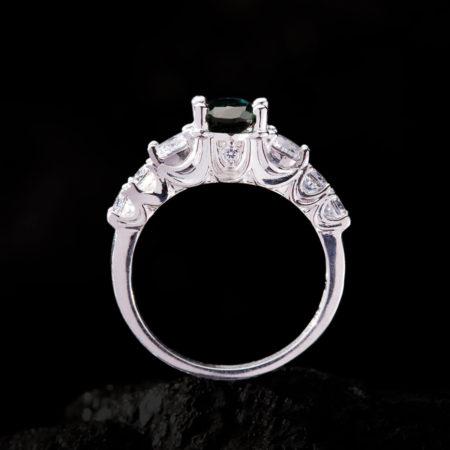 Nhẫn Nữ - Bạc - Đá Sapphire Xanh Tự Nhiên #NSP-210630-04 3