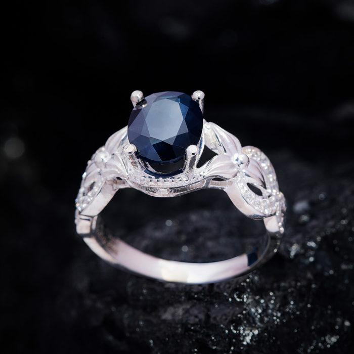 Nhẫn Nữ - Bạc - Đá Sapphire Xanh Tự Nhiên #NSP-210630-05 1