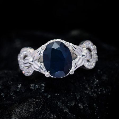 Nhẫn Nữ - Bạc - Đá Sapphire Xanh Tự Nhiên #NSP-210630-05 3