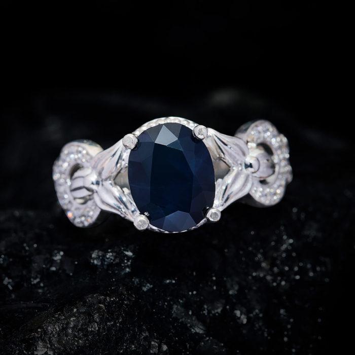 Nhẫn Nữ - Bạc - Đá Sapphire Xanh Tự Nhiên #NSP-210630-05 2