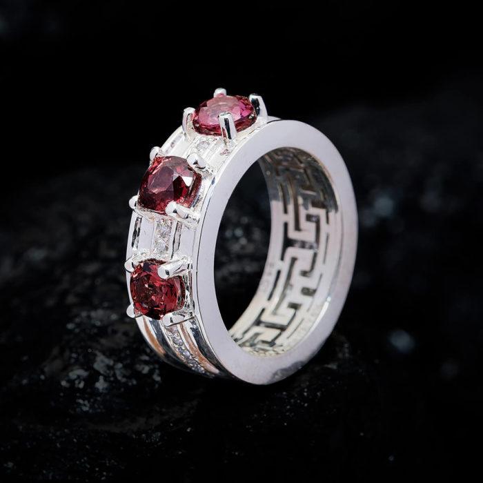Nhẫn Nữ - Bạc - Đá Tourmaline Tự Nhiên #NTM-210630-03 1