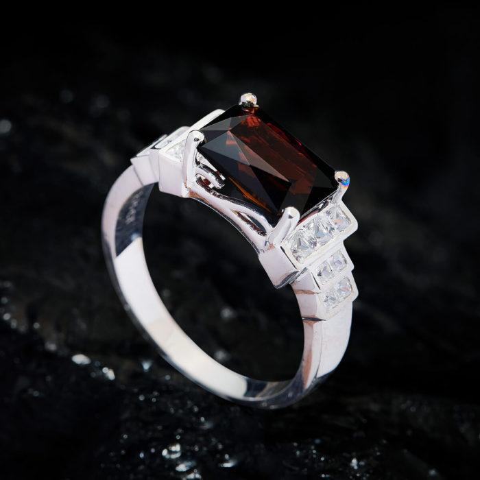 Nhẫn Nữ - Bạc - Đá Tourmaline Tự Nhiên #NTM-210630-04 1