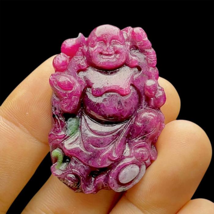 Mặt Phật Di Lặc - Đá Ruby Phi Tự Nhiên #MRB-210721-03 1
