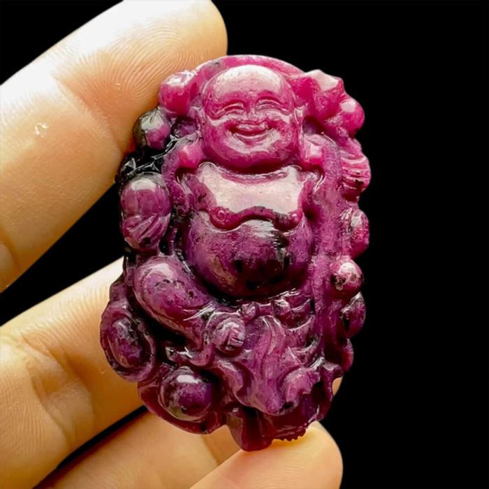 Mặt Phật Di Lặc - Đá Ruby Phi Tự Nhiên #MRB-210721-04 1