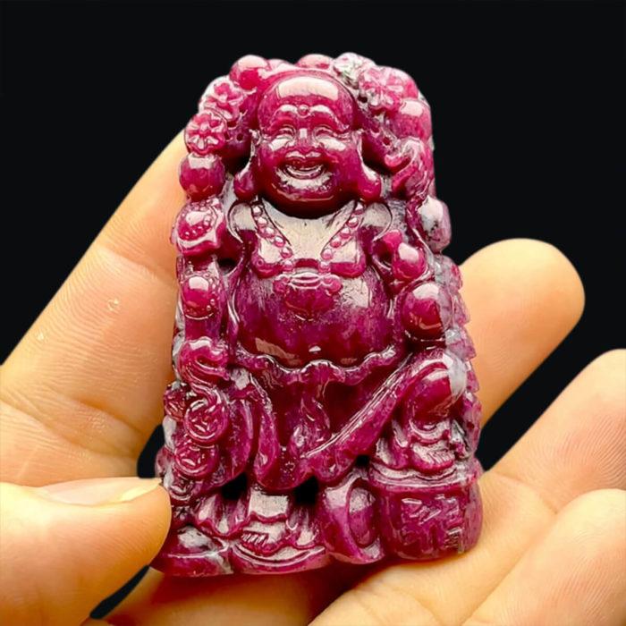 Mặt Phật Di Lặc - Đá Ruby Phi Tự Nhiên #MRB-210721-06 1
