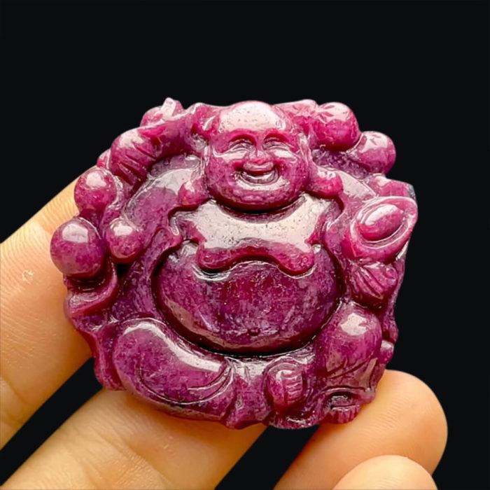 Mặt Phật Di Lặc - Đá Ruby Phi Tự Nhiên #MRB-210721-07 1