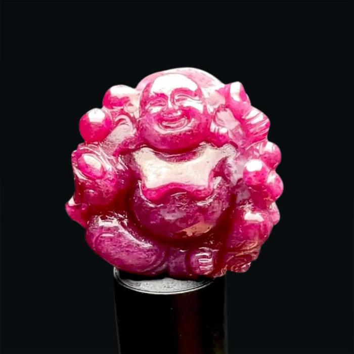 Mặt Phật Di Lặc - Đá Ruby Phi Tự Nhiên #MRB-210727-06 1