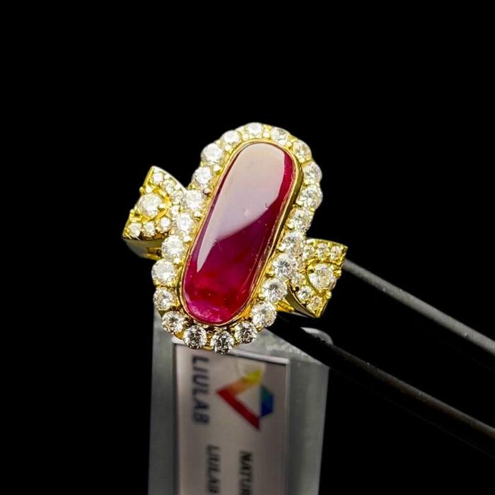Nhẫn Nữ - Vàng 14K - Đá Ruby Tự Nhiên #NRB-210728-01 1
