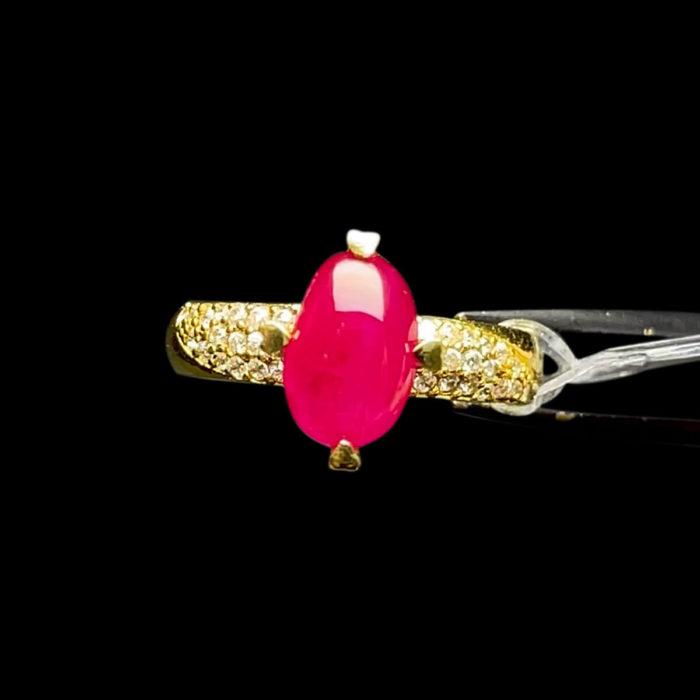 Nhẫn Nữ - Vàng 14K - Đá Ruby Lục Yên Tự Nhiên #NRB-210728-02 1